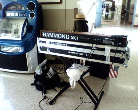 Jon Hammond's Hammond Organ ready for action!