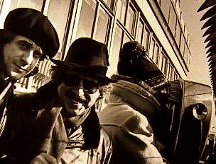 Eddie Money & Jon Hammond at top of Empire StateBuilding