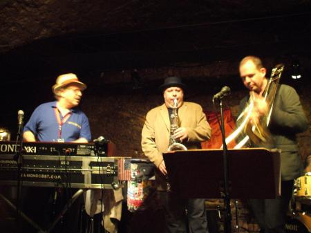 Jon Hammond, Tony Lakatos, Guenter Bollmann in JazzkellerFrankfurt