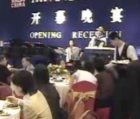 I wonder what booking agent booked this band? Jon Hammond & Fang Lin play Accordion at Official Opening Ceremony MUSIC CHINA